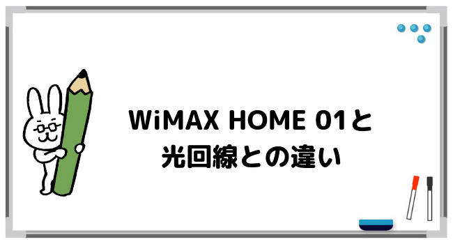WiMAX HOME 01と光回線を比較