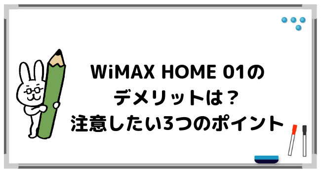 WiMAX HOME 01のデメリット